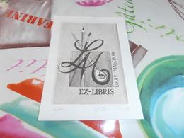 Ex Libris   Louis Maechler Signé Frederic Kubler 88 N°28/40 - Ex-libris