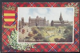 Scotland Postcard - Cathedral And Royal Infirmary, Glasgow - Cameron Tartan - Art Colour No A1009 - DC1973 - Lanarkshire / Glasgow