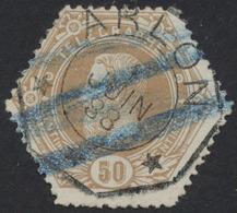 """Télégraphe - N°TG5 Obl Télégraphique """"Arlon"""" + Annulation à La Craie Bleu (3 Lignes). - Telegraphenmarken"""