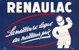 Ancien BUVARD Illustré RENAULAC , A La Palette D'or à HONFLEUR - Peintures