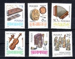Polonia -1984. Timpani,fisarmonica,violino,cornamusa.Timpani, Accordion, Violin, Bagpipes, Orchestra Wood Sculpture MNH - Musica