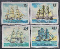Samoa N° 436 / 39 XX Voiliers ( I )  Les 4 Valeurs Sans Charnière, TB - Samoa