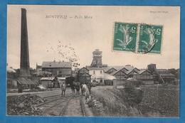 MONTVICQ Puits Mony Animé 1907 (TRACES TAMPON Très Très Bon état) H 92 - Andere Gemeenten