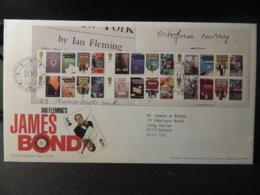 GB 2008 FDC - James Bond Tallents Postmark  Films Cinema Spy Fleming - FDC