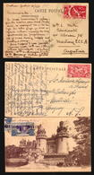 FRANCE GOOD COMMEMORATIVE STAMPS USED ON 3 POSTCARDS PARIS 1937 & 1925 EXPO + LEGION AMERICAINE  (W5_237) - Francia