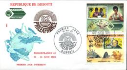 Ref. 244528 * NEW *  - DJIBOUTI . 1982. INTERNATIONAL PHILATELIC EXHIBITION. EXPOSICION FILATELICA INTERNACIONAL - Yibuti (1977-...)