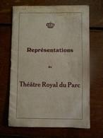 THéàtre  Royal Du PARC  1939 ----1940  Bruxelles  Et Province - Programmes