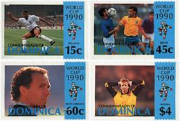 Ref. 41641 * NEW *  - DOMINICA . 1990. FOOTBALL WORLD CUP. ITALY-90. COPA DEL MUNDO DE FUTBOL. ITALIA-90 - Dominica (1978-...)