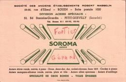 Ancien BUVARD Illustré SOROMA ACIER - Blotters