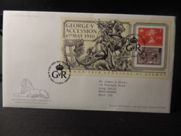 GB 2010 FDC - MS Accession Of King George V Tallents Postmark  Royalty Kv5 Dragon Horses - FDC