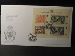 GB 2010 FDC - MS Festival Of Stamps Tallents Postmark  Kgv Lions Horses Britannia Royalty - FDC