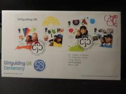 GB 2010 FDC - MS Girlguiding Tallents Postmark Children Scouts Kites - FDC