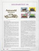 België O.B.C   Luxeblad Met Gouddruk  2232 / 2235   Autoworld 86   217/500 - Herdenkingskaarten