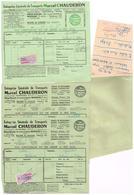 Entreprise Générale De Transports Marcel Chauderon Moissac Service De Messagerie Rapide Journalier 4 Bulletins Livraison - Transportation Tickets