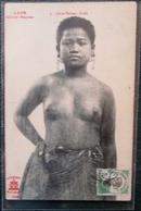 Laos Jeune  Femme  Buste  Cpa Timbrée - Laos