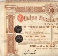 Titre Ancien - L'Union Foncière D'Egypte - Titre De 1905 - N°45734 - Africa
