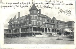 Sydney Hotel , Sydney , Cape Breton (pliée Coin Droit) - Cape Breton