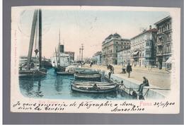 CROATIA Fiume Riva Szapary 1900 OLD POSTCARD - Croatia
