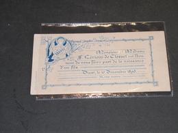 BRUXELLES - FAMILLE LEVIEUX De CLOSSET  10/12/1896  Naissance De Leur Fils Raoul - Nacimiento & Bautizo