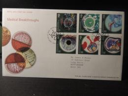 GB 2010 FDC - Medical Breakthroughs  Hartfield Postmark  Cells - 1991-2000 Decimal Issues
