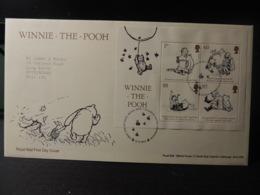 GB 2010 FDC - MS Winnie-the-Pooh Tallents Postmark  Children Bears Balloon - FDC