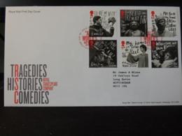 GB 2011 FDC - Tragedies Histories Comedies Tallents Postmark  Theatre Literature Shakespeare Plays - 1945-.... 2nd Republic