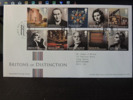 GB 2012 FDC - Britons Of Distinction Coventry Postmark  Personalities Architecture Inventions - 1945-.... 2nd Republic