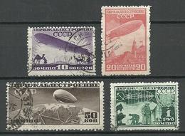 RUSSLAND RUSSIA 1931 Michel 397 & 399 - 400 O Luftschiffbau Zeppelin O - Gebraucht