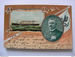 Schnelldampfer Kaiser Wilhelm Der Grosse Kapitain O. Cüppers - Bremen New York - Dampfer