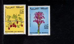 744663473 POSTFRIS  MINT NEVER HINGED EINWANDFREI SCOTT  837 838 FLOWERS ORCHIS - Maroc (1956-...)