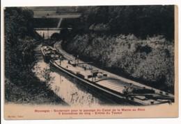 CPA 55 MAUVAGES  Souterrain Pour Le Passage De La Marne Au Rhin - Péniches - France