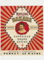 1032 / ETIQUETTE DE RHUM - RHUM  BAKARA    PERNET   LE HAVRE - Rhum