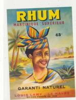 1033 / ETIQUETTE DE RHUM - RHUM  MARTINIQUE  LOUIS LAMY   LE HAVRE - Rhum