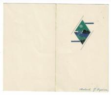 Menu Illustré, Format 190 X 160 Mm Ouvert - Leynes (71) Le 18 Mars 1944 - Menus