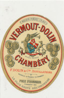 AN  419 / ETIQUETTE     VERMOUT DOLIN  CHAMBERY - Etiquettes