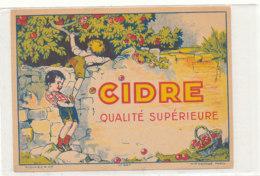 AN  421 / ETIQUETTE    CIDRE  QUALITE SUPERIEURE - Etiquettes