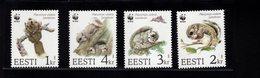 744665495 POSTFRIS  MINT NEVER HINGED EINWANDFREI SCOTT  270 271 272 273 WWF FYING SQUIRREL WORLD WILDLIFE FUND - Estonie