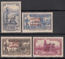 1941  Yvert Nº 165 / 168, /*/ - Ivory Coast (1892-1944)