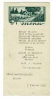 """Menu Illustré """"Hôtel Lacourtablaise, Leynes (71) Du 5 Février 1950 - Menus"""