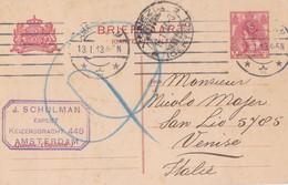1913 Olanda, Cartolina Postale Da Amsterdam A Venezia. - Sonstige - Europa