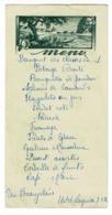 """Menu Illustré """"Hôtel Laguette, 7/1/1951 - Banquet Des Classes En 1 - Format 90 X 180 Mm - Menus"""