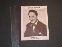 ZAPPY MAX - RADIO CIRCUS - PHOTO DEDICACEE - Handtekening