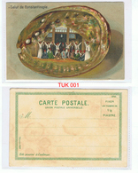 Salut De Constantinople Derviches Turners Coloured Postcard UNPOSTED Circa Early 1900s - Turchia