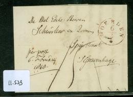 HANDGESCHREVEN BRIEF Uit 1828 Van WOERDEN Naar 's-GRAVENHAGE (11.539) - Paesi Bassi