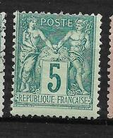 BON SAGE N 75 5C  Neuf Quasi **  Trace Infime, Pas Aminci Côte 40€ - 1876-1898 Sage (Type II)