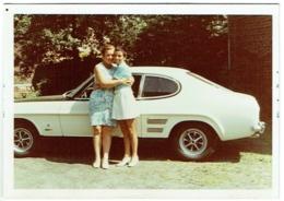 Foto/Photo. Femme Et Auto Ford Capri. 1971. - Automobiles
