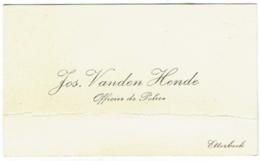 Carte Visite. Jos Vanden Hende. Officier De Police. Etterbeek. - Visiting Cards