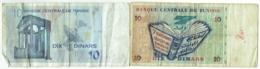 Tunisie. 10 Dinars. Lot De 2 Billets : 2005-11-7 Et 1994-11-7; - Tunisie