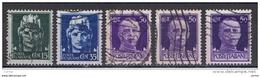 REGNO VARIETA':  1929  IMPERIALE  -  5  VAL. US. -  CORONA  CAPOVOLTA  -  C.E.I. 242 A//247 A - 1900-44 Victor Emmanuel III