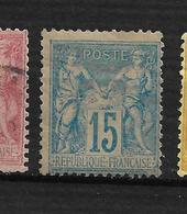 BON SAGE N 90 Neuf * 15C Rose  , Pas Aminci Côte 20€ - 1876-1898 Sage (Type II)